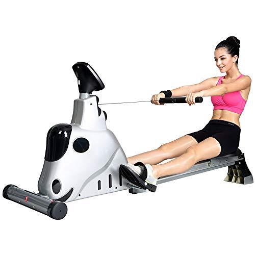 YANGSANJIN Water Roeimachine Opvouwbare Gratis Roeimachine Body Glider Weerstand Verstelbare Indoor Thuis Oefening Apparatuur Fitness Machine (Kleur: zwart)