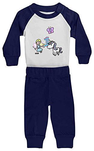 Hariz - Pijama para bebé, diseño de unicornio, princesa, 1 cumpleaños, incluye...