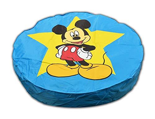 Pouf Géant Bleu Disney Mickey Mouse ø 110 cm fabriqué en France