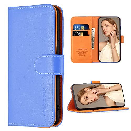 FMPCUON Hülle Hülle Kompatibel mit Xiaomi Mi Note 10 Lite 5G - Premium PU Leder Brieftasche Handyhülle - Handy Lederhülle Cover Schutzhülle Etui Tasche Book Klapp Style Handytasche, Blau