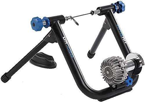 Lanrui Rullo Bike Trainer con Una Ruota Anteriore Rilievo ed Una Leva di sblocco rapido for dell'interno addestramento di Equitazione Fluid Stand Bike Trainer Bici Corsa