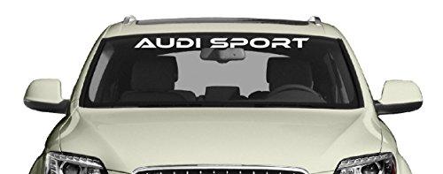 Sport Windschutzscheiben Aufkleber passt zu Audi Auto Heckscheiben Sticker / Plus Schlüsselanhänger aus Kokonuss-Schale / A1 A3 A4 Q2 Q5 Q7 Q3 R8 TT TTR RR RS6 RS3 S3 Car Rally JDM Dub Sport Tuning