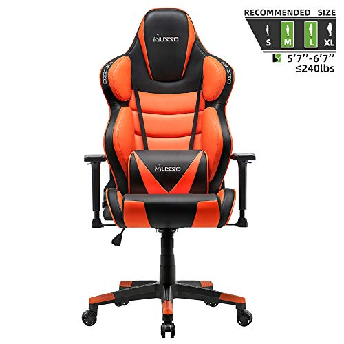Musso Contoured Gaming Chair Adults Racing Computer Gamer Chair with Fully Foam, Esports Video Game...