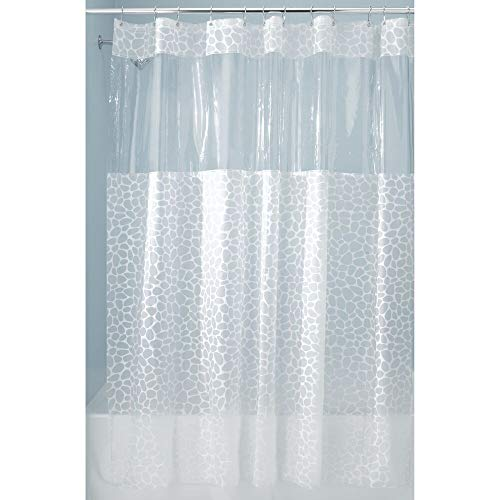 Price comparison product image iDesign Pebblz View PVC-Free EVA Shower Curtain,  183 x 183 cm - White