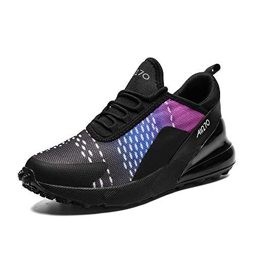 IceUnicorn Turnschuhe Sportschuhe Herren Damen Straßenlaufschuhe Outdoor Leichtgewichts Laufschuhe Atmungsaktive Fitness Schuhe(96-5 S/Lila, 45EU)