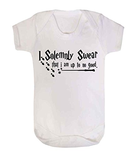 Body para bebé con texto en inglés «I solemnly swear that I am up to no good Harry Potter» (6-12...