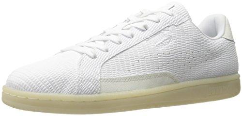 PUMA Men's Match Emboss LTHR Fashion Sneaker, White, 4 M US