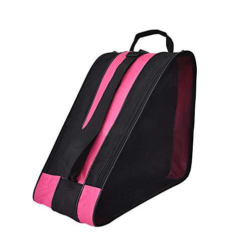SENDILI Borsa da Pattini - Traspirante Unisex Skate Bag Borsa per Pattini da Ghiaccio e Pattini Roller, Rosa, 39 * 20 * 38cm