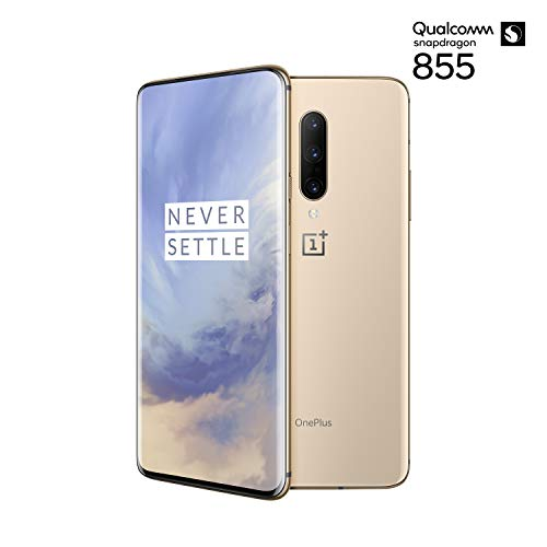 OnePlus 7 Pro Smartphone Almond (16,9 cm) AMOLED Display 8 GB RAM + 256 GB Speicher, Triple Kamera (48 MP) Pop-up Kamera (16 MP) – Dual SIM Handy