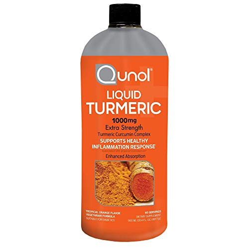 Qunol Liquid Turmeric Curcumin with Black Pepper 1000 Milligram, Supports Healthy Inflammation Response and Joint Support, Dietary Supplement, Extra Strength, 60 Servings, 30.4 fl oz (pack of 1)