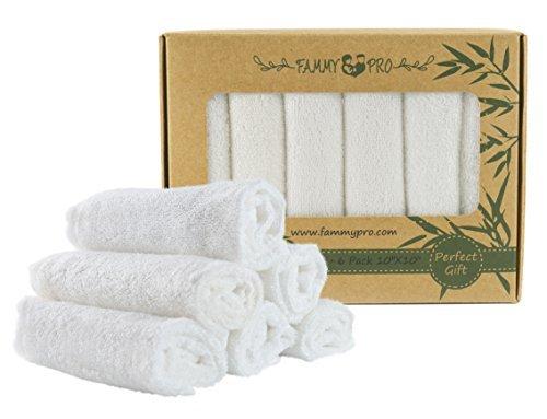 Bamboo Washcloths 100% Natural, Dye Free