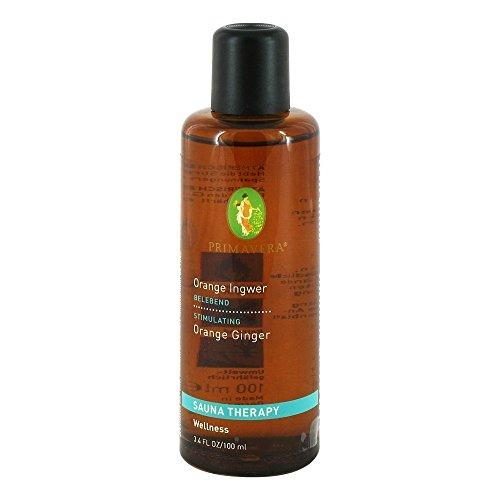 PRIMAVERA Aroma Sauna Orange Ingwer bio 100 ml - Saunaöl, Aromatherapie - fruchtig-würziges Zitrusaroma - stimmungshebend, anregend - vegan