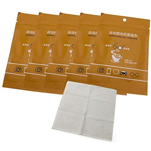 BSTCAR 5 Stück Microfaser Brillenputztuch, Antibeschlag-Tuch für Brillen Wiederverwendbares Wildleder-defogger-Tuch Feuchte Reinigungstücher für Brillen, Objektive, Bildschirme, Kameraobjektive