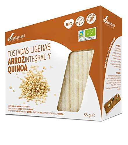 Alecosor Tostadas Ligeras Arroz Integral y Quinoa Soria Natural Bolsa