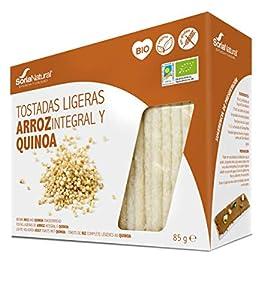 Alecosor Tostadas Ligeras Arroz Integral y Quinoa Soria Natural Bolsa Hermética 85 G (25 X 3.4 G)/Estuche.