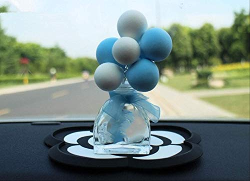 KLHNVUIY Auto ornamenten Mini Auto Decoratie Ballon Auto Interieur Air Parfum Fles Dashboard Ornamenten Met Antislip Mat