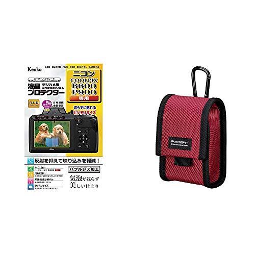 Kenko 液晶保護フィルム 液晶プロテクター Nikon COOLPIX B600/P900/B700/P610用 KLP-NB600 & HAKUBA デジタルカメラケース ピクスギア タフ03 M レッド SPG-TG03CCMRD