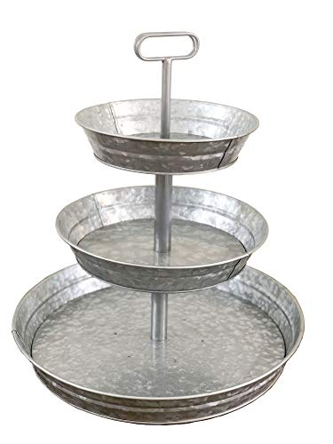 3 Tier Galvanized Metal Stand