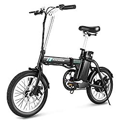 top rated ANCHEER Folding Electric Commuter Bike, 16-inch City Electric Bike with Detachable 8 Ah Lithium Ion Battery … 2021