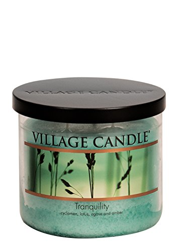 Village Candle Tranquility 17 oz Glass Bowl Scented Candle, Medium