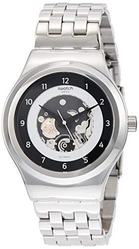 Swatch Reloj Analógico para Hombre de Automático con Correa en Acero Inoxidable YIS416G
