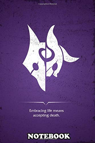 """Notebook: Minimal Poster Design Of Kindred From League Of Legends , Journal for Writing, College Ruled Size 6"""" x 9"""", 110 Pages"""