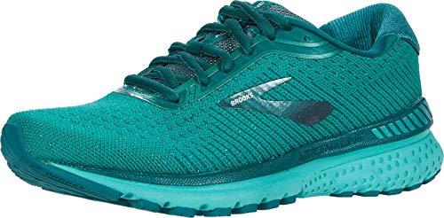 Brooks Womens Adrenaline GTS 20 Running Shoe - Emerald/Emerald - B - 6.5