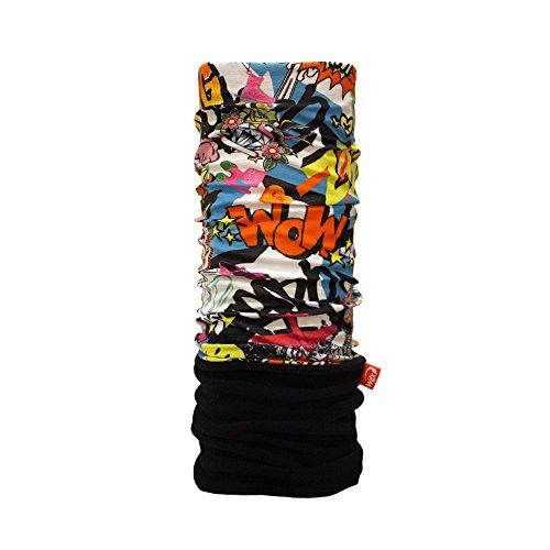 WIND X-TREME Polar Headwear Comic Scaldacollo, Nero/Rosso/Bianco/Blu, Taglia Unica