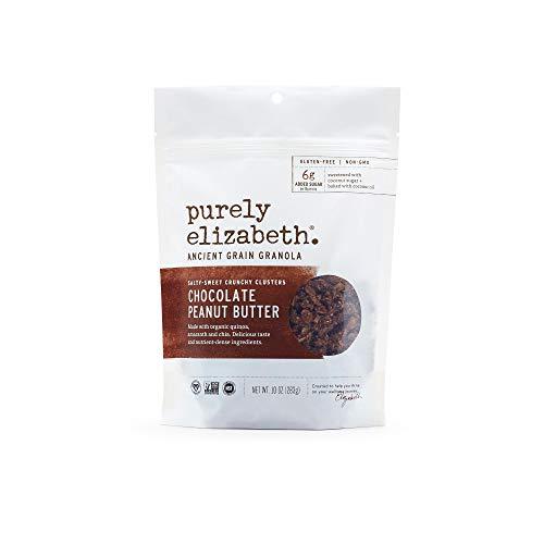 purely elizabeth Ancient Grain Granola - Certified Gluten-free + Vegan & Non-GMO | Chocolate Sea Salt + Peanut Butter Nut Butter - 10 oz