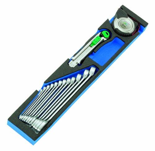 Heyco/Heytec 50829003480 Werkzeugkasten-Modul Ringmaulschlüssel + Messer + Bandmass 14-teilig 50829-34