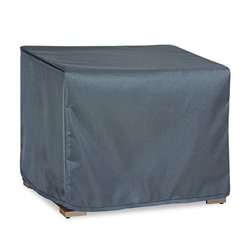 Hentex Housse de protection pour fauteuil de salon de jardin 100 x 100 x 70 cm Gris
