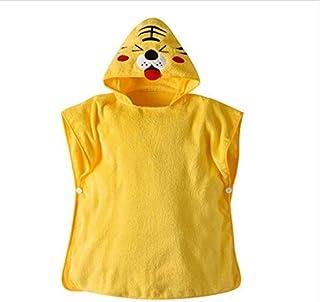 Print Yoga Mat Children'S Bath Towel Hooded Cartoon Yellow Tiger Coral Velvet Absorbent 瑜伽垫