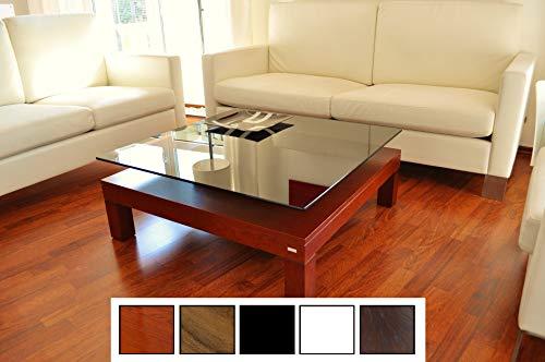 Design Couchtisch Tisch V-570H Kirschbaum Kirsche getöntes Glas Carl Svensson