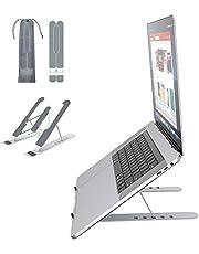 """Soporte Portátil Mesa 6 Ángulos Ajustables, ABS+silicona+aleación de aluminio, Soporte Ordenador Ventilado Plegable, Laptop Stand, Ligero Soporte Mesa para Macbook DELL XPS, HP, PC y Otros 10-15.6"""""""