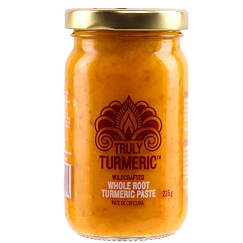 Truly Turmeric - Fresh Wildcrafted Whole Root Turmeric Paste, Non-GMO, Vegan and Keto Turmeric Spice for Cooking and Golden Milk - 8oz (235g) - Original