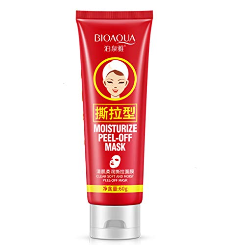 BIOAQUA Peel Tear Off Mask Mild Oat Blackheads Removal Natural Herbal Cleanses Moisturize Bamboo Charcoal
