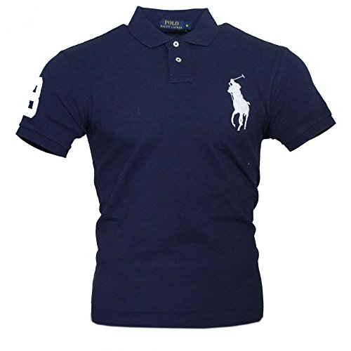 Ralph Lauren Herren Kurzarm Polo Shirt Big Pony (Navy, XXL)