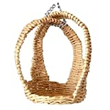 Wicker Hanging Chair With Stand for Lati Yellow Pukifee 1:8 scale dolls. Handmade