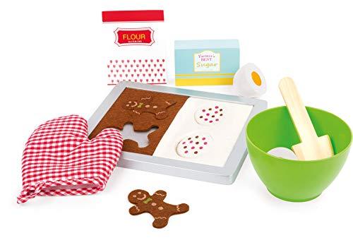 """Small Foot 11207 Backset """"Plätzchen Zubehör, 12-TLG. Set aus Holz, tolle Ergänzung für die Kinderküche/Kaufmannsladen, für kleine Bäcker ab 3 Jahren Spielzeug, Mehrfarbig"""