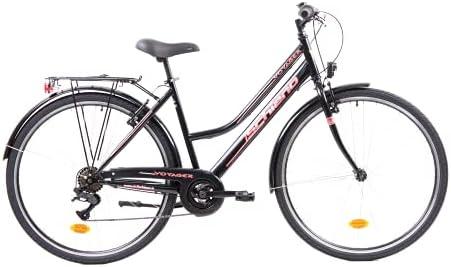 F.lli Schiano Voyager Bicicleta Trekking, Women's, Negro-Rojo, 28''
