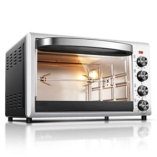Horno para Pizzas Gourmet, MáQuina para Hornear, Barbacoa Giratoria 360 °, CalefaccióN RáPida 38L-1800w, Control De Temperatura Y Temporizador