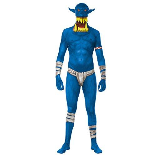 Morphsuits MLORBL - Costumi Blu Orco Jaw Dropper Morphsuit Adulto Grande 5 Pollici 4 - 5 Pollici 9, 165 cm - 180 cm, L, Multi