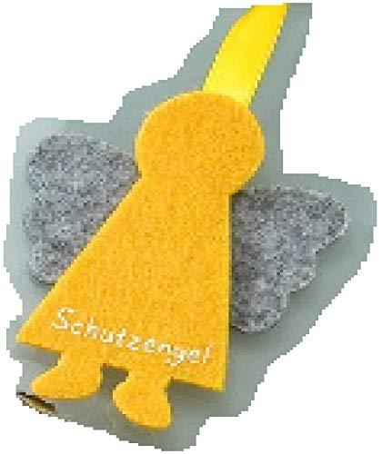 GILDE - 48638 - Schutzengel, Anhänger, Wichtel, Filz, 8cm, gelb