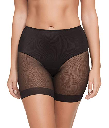 Pantalon Faja Anti-rozadura Invisible y Super Ligero. Tejido Elastico y Super Suave (Negro, XL)