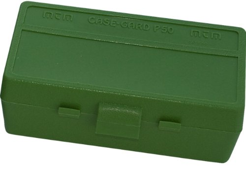MTM 50 Round Flip-Top Ammo Box 38 357 Cal (Green)