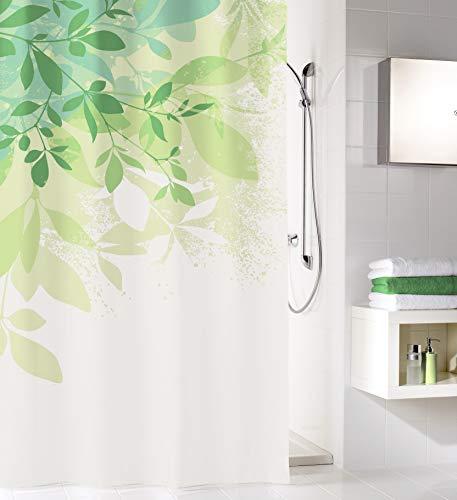 Kleine Wolke Floresta Duschvorhang, 100prozent Polyester, Grün, 180x200 cm