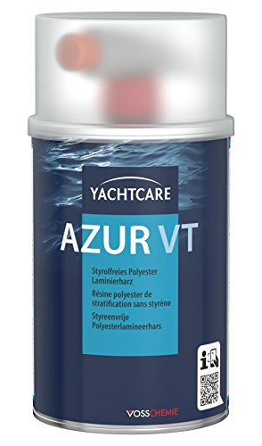 Yachtcare Unisex Azur Vt Laminierharz Inkl. Hürter Polyesterharz, blau, 1KG EU