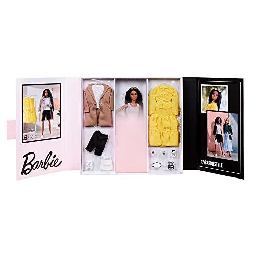 Barbie Signature Colección Moda, muñeca afroamericana de colección de juguete con accesorios (Mattel GTJ83)