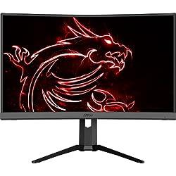 MSI Optix MAG272CQR Monitor Gaming 27´´ Curvo, Display 16:9 WQHD (2560 x 1440), Freq 165Hz, HDR Ready, 1ms, Type-C, Pannello VA, Curvatura 1500R, Mystic Light RGB, Gaming OSD APP, VESA 100x100