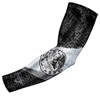 Bucwild Sports USA Mexico Puerto Rico Canada Flag Compression Arm Sleeve - Youth & Adult Sizes - Baseball Basketball Football Running Boys Girls Kids Men & Women